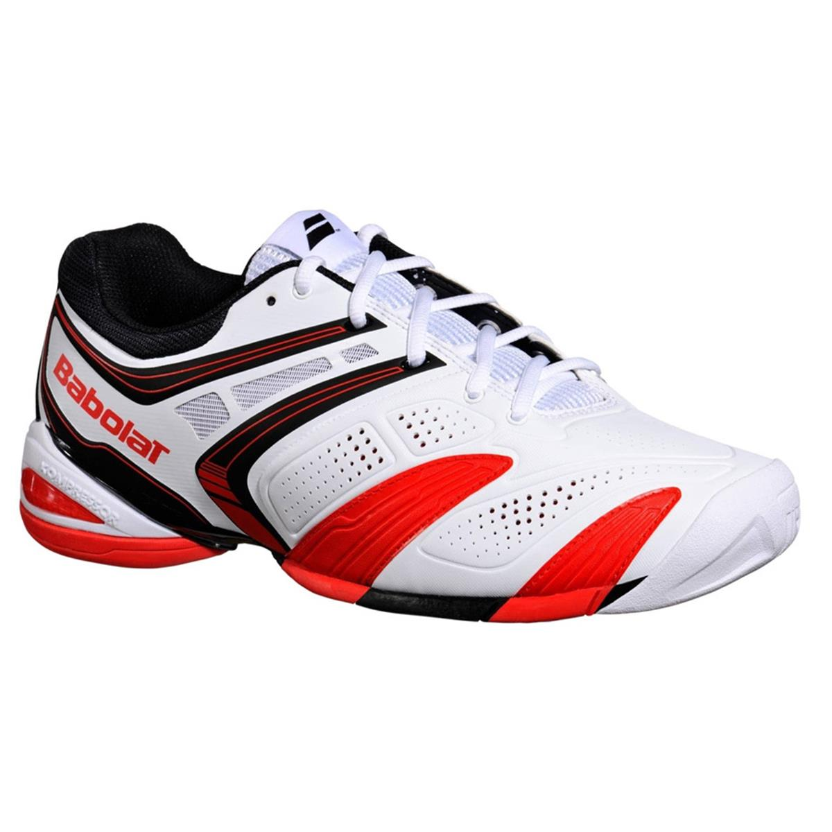 Babolat V Pro 2 Mens White Red Tennis Shoes British Tennis Shop