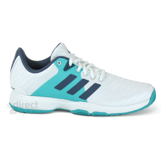 Adidas Barricade Court Womens Tennis Shoes (White-Tech Ink)