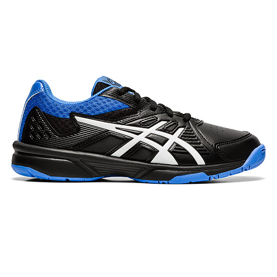 Asics Court Slide GS Junior Tennis Shoes (Black-Blue Coast)