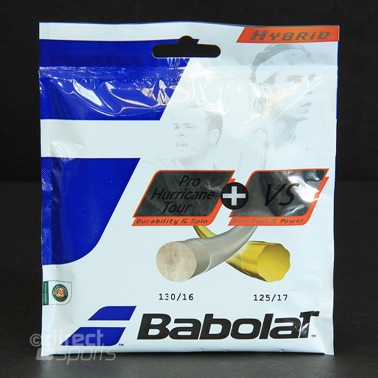 Babolat Hybrid Pro Hurricane Tour 125 + VS 130 Tennis Racket String