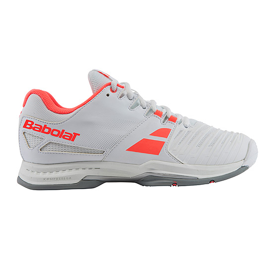 Babolat SFX All Court Womens Tennis Shoes (White-Pink)