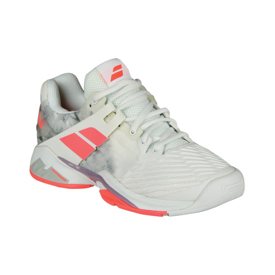Babolat Propulse Fury Womens Tennis Shoes (White-Fluo Strike)