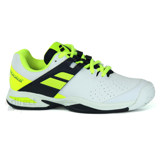 Babolat Propulse Junior Tennis Shoes (White-Black-Yellow)