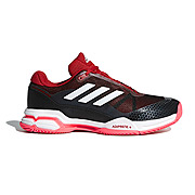 Adidas Barricade Club Mens Tennis Shoes (Black-White-Scarlet)