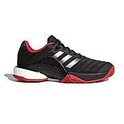 Adidas Barricade Boost Mens Tennis Shoes (Black-Red)