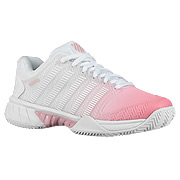 e9cb15a2 K-Swiss Hypercourt Express HB Womens Tennis Shoes (White-Pink Lemonade-Coral
