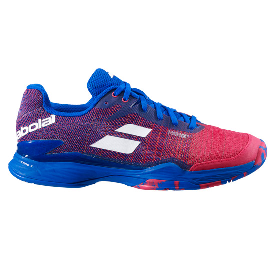 Babolat Jet Mach II All Court Mens Tennis Shoes (Poppy Red-Estate Blue)