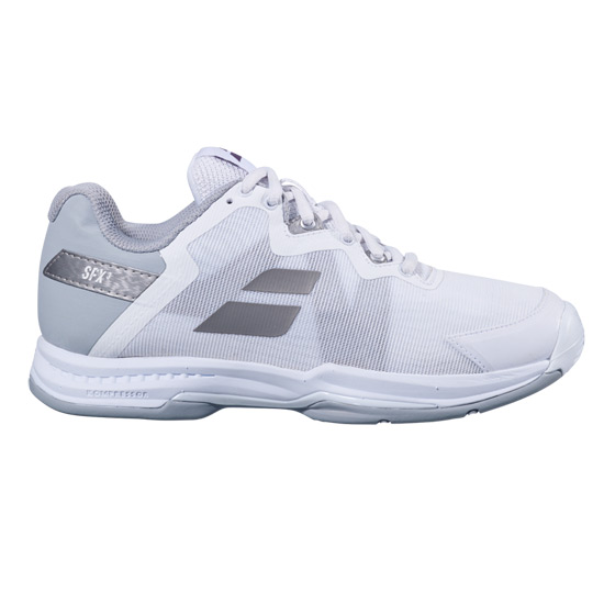 Babolat SFX 3 All Court Womens Tennis Shoes (White-Silver)