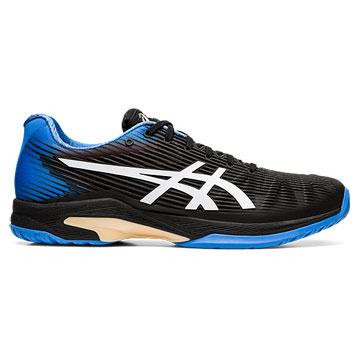 Asics Gel Solution Speed FF Mens Tennis Shoes (Black-Blue Coast)