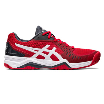 Asics Gel Challenger 12 Novak Mens Tennis Shoes (Classic Red-White)