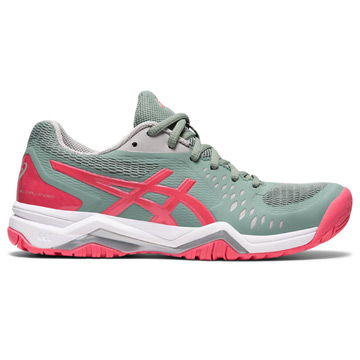 Asics Gel Challenger 12 Womens Tennis Shoes (Slate Grey-Pink Cameo)