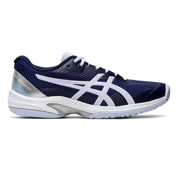 Asics Gel Court Speed FF Womens Tennis Shoes (Peacoat-Soft Sky)