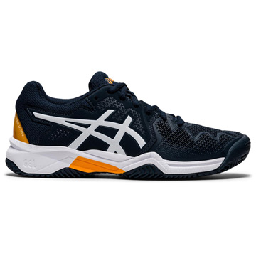 Asics Gel Resolution GS Junior Tennis Shoes (French Blue-White)
