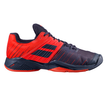 Babolat Propulse Fury All Court Mens Tennis Shoes (Black-Tomato Red)