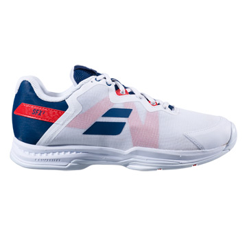 Babolat SFX 3 All Court Mens Tennis Shoes (White-Estate Blue)