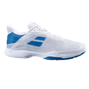 Babolat Jet Tere All Court Mens Tennis Shoes (White-Saxony Blue)