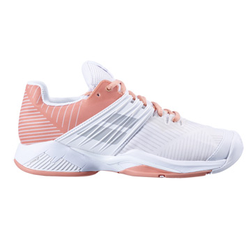 Babolat Propulse Fury All Court Womens Tennis Shoes (White/Coral)