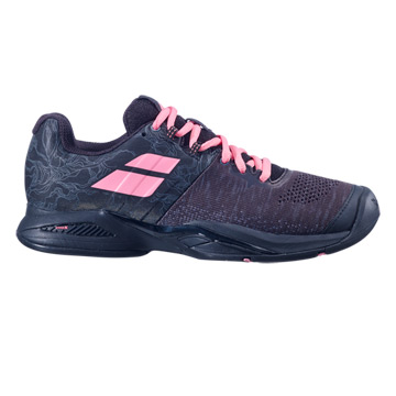 Babolat Propulse Blast All Court Womens Tennis Shoes (Black/Geranium Pink)