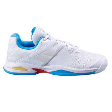 Babolat Propulse All Court Junior Tennis Shoes (White-Diva Blue)