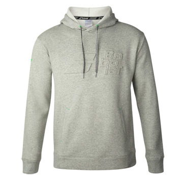 Babolat Exercise Mens Hooded Sweat Top (High Rise Heather)
