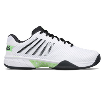 K-Swiss Hypercourt Express 2 Mens Tennis Shoes (White-Blue Graphite-Soft Neon Green)