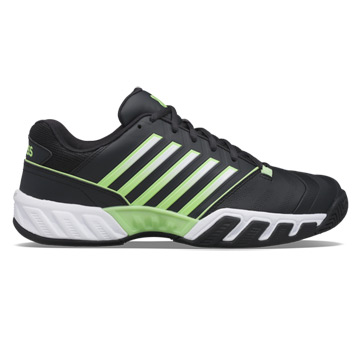 K-Swiss Bigshot Light 4 Mens Tennis Shoes (Blue Graphite-Soft Neon green-White)