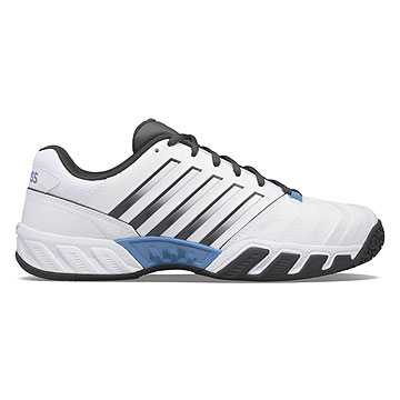 K-Swiss Bigshot Light 4 Omni Mens Tennis Shoes (White-Dark Shadow-Swedish Blue)