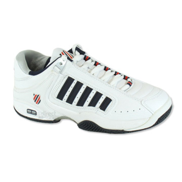 K-Swiss Defier RS Mens Tennis Shoes (White-Red)