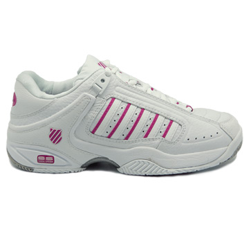 K-Swiss Defier RS Womens Tennis Shoes (White-Very Berry)