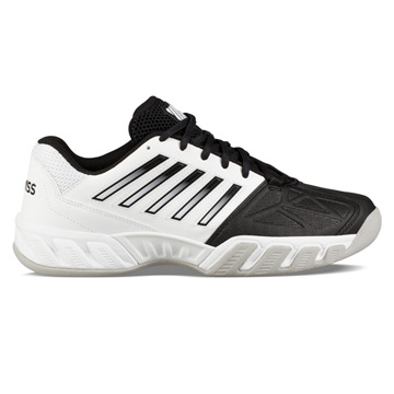 K-Swiss Bigshot Light Carpet Mens Tennis Shoes (White-Black-Gull Grey)