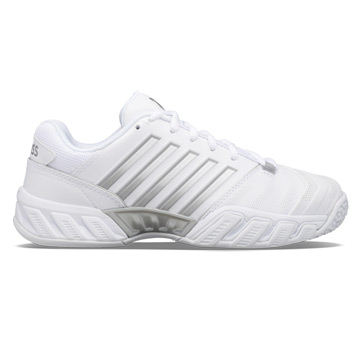K-Swiss Bigshot Light 4 Omni Womens Tennis Shoes (White-High Rise-Silver