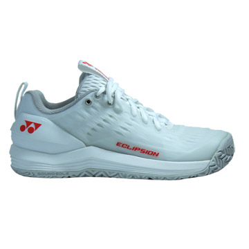 Yonex Power Cushion Eclipsion 3 Womens Tennis Shoes (White-Red)
