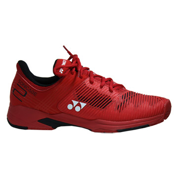 Yonex Power Cushion Sonicage 2 Clay Mens Tennis Shoes (Red)