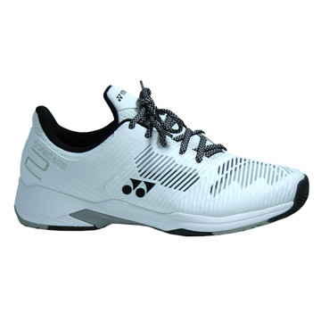 Yonex Power Cushion Sonicage 2 Wide Mens Tennis Shoes (White)