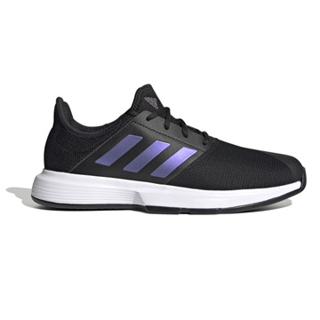 Adidas GameCourt Mens Tennis Shoes (Core Black-Core Black-White)