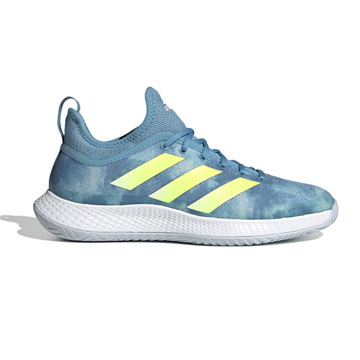 Adidas Defiant Generation Mens Tennis Shoes (Hazy Blue-Solar Yellow-White)