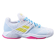 Babolat Propulse Fury All Court Womens Tennis Shoes (White-Sulphur Spring)